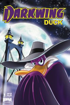 "I am the Disney hero that flaps in a spoof of ""Dark Knight""! I am the cartoon character making a comeback in a miniseries collected in the trade ""The Duck Knight Returns""! I AM DARKWING DUCK! Old School Cartoons, Cool Cartoons, 1990s Cartoons, School Humor, Disney Cartoons, 90s Childhood, My Childhood Memories, Two And Half Men, Dark Wings"
