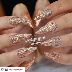 """@celinaryden makes Cinnamon #GlitterGel look so good! ❤️・・・ Rose gold overload!!  ✨ MY BLOG: celinaryden.se (now in english). FACEBOOK:…"""