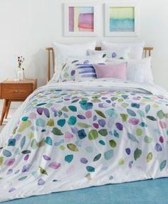 bluebellgray Mosaic Cotton Reversible Twin/Twin Xl Duvet Set - Green