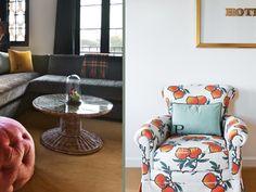 Orange print chair | Palihouse