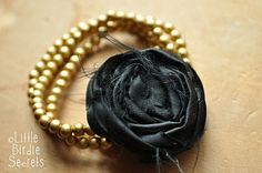 love this idea on how to make removable rosettes for jewelry and other accessories
