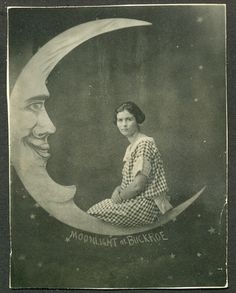 If you want to see more paper moon photos- visit the. Paper Moon, Vintage Photographs, Vintage Images, Cresent Moon, Shoot The Moon, Moon Photos, Moon Illustration, Moon Photography, Moon River