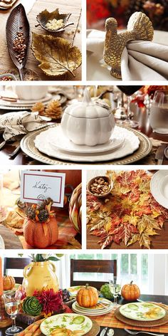 Thanksgiving table setting. Made paper plates and plastic silverware ...