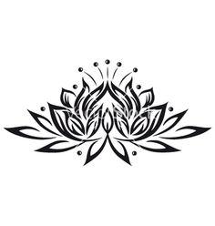 Lotus flower design element vector 1541947 - by christine-krahl on VectorStock®