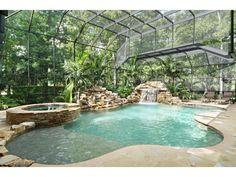 Custom Pool Design Rectangular Pool With Flush Spa