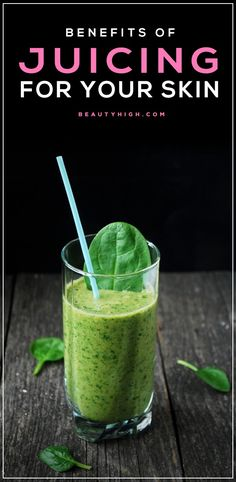 Juicing for better skin - get blemish free, glowing skin from the inside out. beauty inside and out nutrition beauty food Smoothie Legume, Smoothie Fruit, Smoothie Detox, Smoothie Drinks, Detox Drinks, Smoothie Recipes, Juicer Recipes, Healthy Juices, Healthy Smoothies
