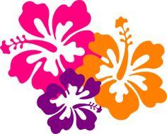 Hibiscus Color Trio clip art