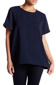 Short Sleeve Hi-Lo Blouse