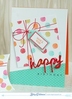 Happy Birthday Card by Betsy Veldman for Papertrey Ink (June 2014)