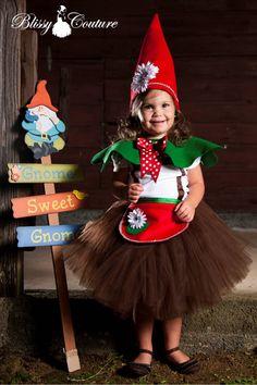 Gnome Sweet Garden Gnome Tutu Costume Halloween Pretend Play Pageant. $65.00, via Etsy.