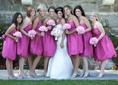 bride and bridemaids - bridesmaids dresses by Coren Moore