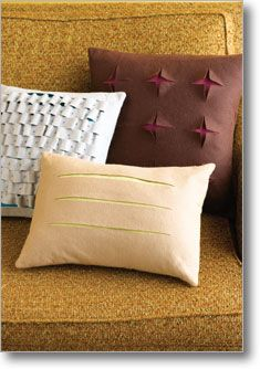 Felt slash pillows. Great a new look in your home for 2013! #NewYou $4.00 eProject