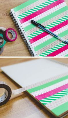Make This Washi Tape Notebook