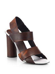 a9e03a1ea05e Proenza Schouler - Strappy Leather   Wood Sandals