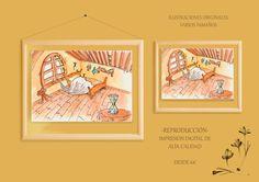 """Ilustración """"La Habitación"""" - Reproducción de Arte, Grabado e Ilustración por DaWanda.com"""