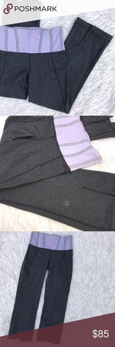 • Lululemon • Crop Pants I love how the logo is gray on these! lululemon athletica Pants Ankle & Cropped