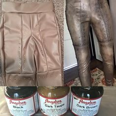 """""""Weathered"""" leather pants"""