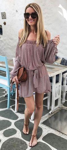 best summer outfit dress + bag