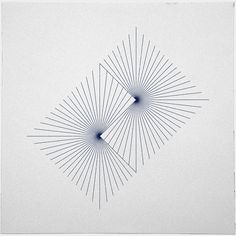 ♥ 262 Binary suns – A new minimal geometric composition each day