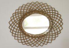 #Miroir en #osier www.brocantedelabruyere.com