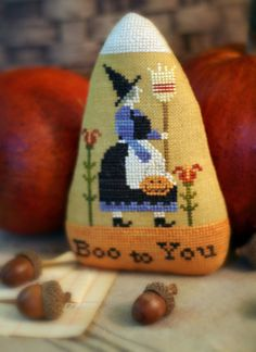 Pattern: Candy Corn Cross Stitch - Country Stitches - With Thy Needle and Thread…