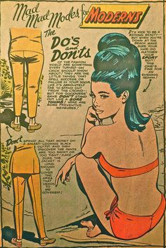 1960s Mod Womenswear Fashion Women Comic Book Vintage Ladies Fashions D by Christian Montone, via Flickr