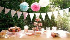 Great idea for high tea decorations from my friend Jordan at http://polkadotprintsstudio.blogspot.com.au