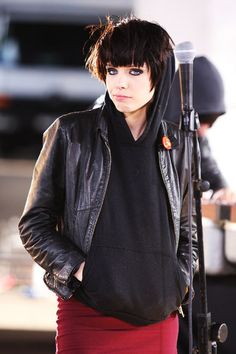 "Alice Glass of the dance-punk outfit ""Crystal Castles""."