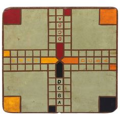 "Original Painted Game Board with ""ABCD"" 