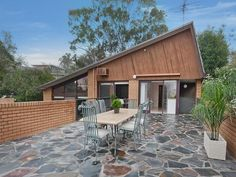 Natural stone pavement to courtyard | 12 Longstaff Street, Ivanhoe East, Vic 3079