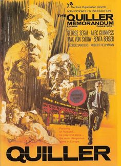 Sixties | The Quiller Memorandum, starring  George Segal, Alec Guinness, Max von Sydow, Senta Berger, George Sanders and Robert Helpmann, 1966