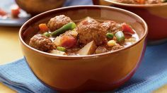 Serve this hearty slow-cooked meatball soup as the main course.