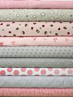 Pink & Grey FQ bundle by poppyseedfabrics,