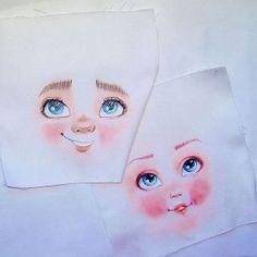 Como coser caras impresas en muñecas de tela
