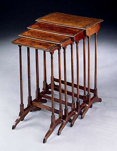 1810 Regency Nest of Amboyna tables.