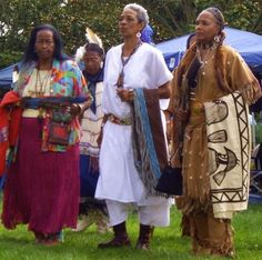 This photo was taken at the 1st Black Native American Pow Wow in Oakland, 2011. The Woman in brown is one of the Founders of the Black Native American Association.