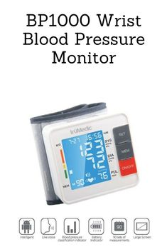 "Quickly and easily monitor your blood pressure and heart rate at home or in the office. Large, bright LCD screen makes it easy to see your measurements and ""live voice"" reads you your measurements in real time. Store up to 90 previous readings so you can keep track of your health and maintain a healthy lifestyle. Includes: Wrist Blood Pressure Monitor, Protective Case, 2x AAA Batteries"