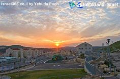 Sunset over the town of Beit Shemesh