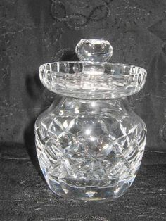 Vintage Waterford Crystal Condiment Jar Jam or Mustard Server