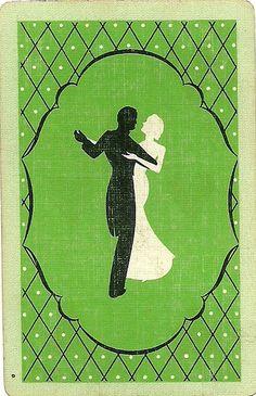vintage playing card green dance by Millie Motts, via Flickr www.springbokcasino.co.za/