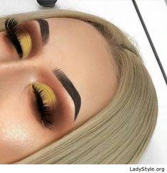 Amazing yellow sunset makeup - LadyStyle