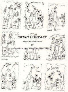 Sweet Company 9 designs by Barb Smith www.theodoracleave.com