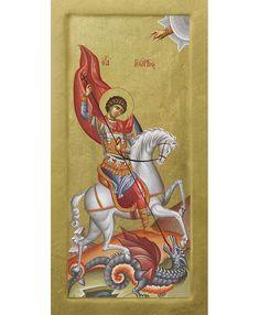 Byzantine Art, Byzantine Icons, Hl Georg, Dragons, Saints, Princess Zelda, Fictional Characters, All Saints Day, Fantasy Characters