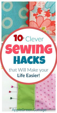 clever sewing hacks you absolutely need to know! They will make your sewing and life easier . Some of the m are so amazingly simple you just won't believe you haven't thought of yourself!