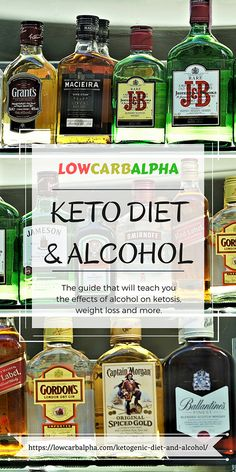 Keto Diet and Alcohol https://lowcarbalpha.com/ketogenic-diet-and-alcohol/ Drink alcoholic drinks on a LCHF diet? Guide to teach the effects of alcohol on ketosis, losing weight and more #lowcarb #keto #lowcarbhighfat #lowcarbalpha #highfat #alcohol