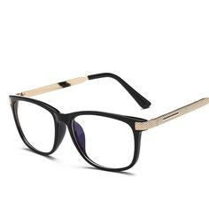 9c85180727 Retro Metal Frame Eyeglasses Clear Lens Glasses Men Women Square  Transparent Optical Glasses Frames Spectacle Oculos