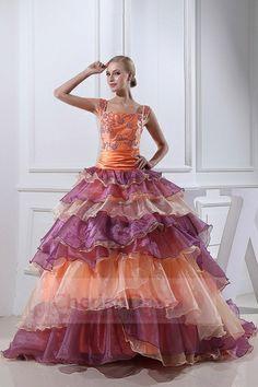 Fantastic Layered Skirt Square Neckline Bridal Gown - Wedding Dresses - WEDDING APPAREL