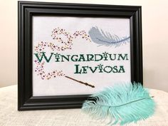 PDF Wingardium Leviosa Harry Potter Cross Stitch by CarlyDoodles