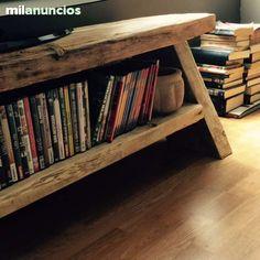 Mil anuncios com madera reciclada muebles madera for Mesa tv segunda mano