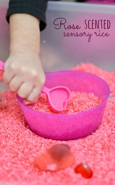 Rose Scented Sensory Rice | Growing a Jeweled Rose